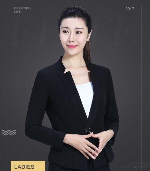 黑色时尚职业套装FX07
